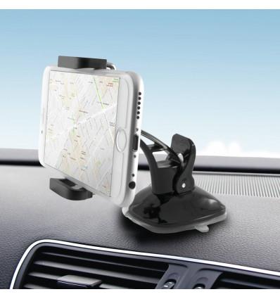 Ksix soporte de movil / teléfono para salpicadero de coche color negro
