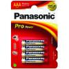 Panasonic blx4 lr03 aaa pro pow pila alcalina