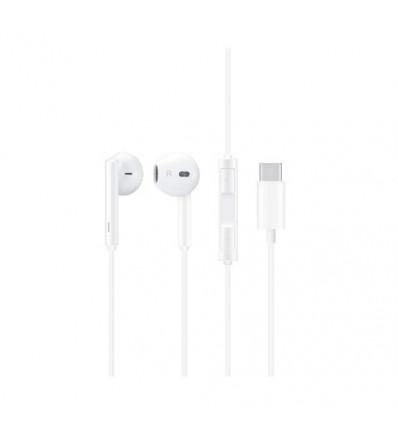 Huawei st cm33 auriculares de botón blancos con conexión usb tipo c