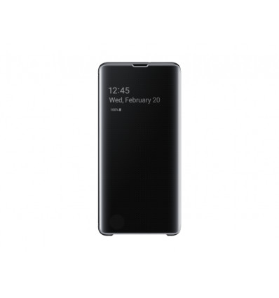 Samsung s10+ clear view cover   black funda