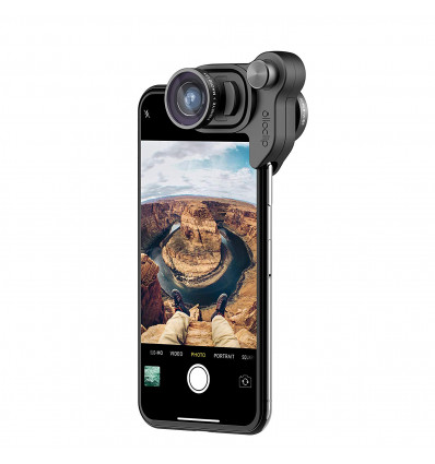 OLLOCLIP  PHOTO BOX SET  IPHONE X: BLACK Lente