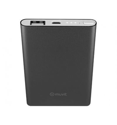 MUVIT 5000MAH CABLE USB   MICROUSB BK Powerbank