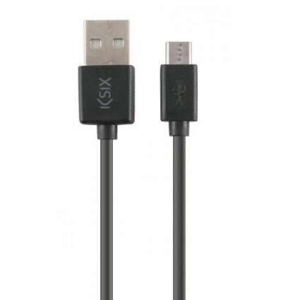 KSIX USB MICRO USB 1M BK Cable Dato