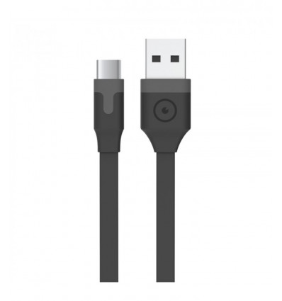 MUVIT USB TIPO C 3A 0 2M BK Cable Datos