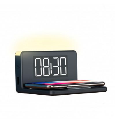KSIX WIRELESS ALARM CLOCK 10W Carg  Inalambrico