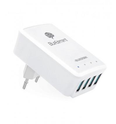 BLUESTORK WALL 50 U4 LED BE Cargador USB 4 puertos