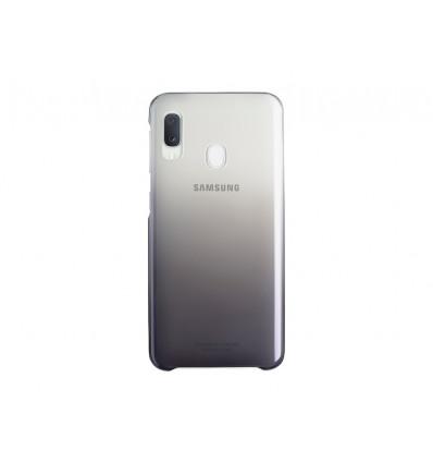 Samsung a20e (2019) gradation cover   black funda