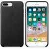 Apple iphone 7 plus / 8 plus funda cuero (negro)