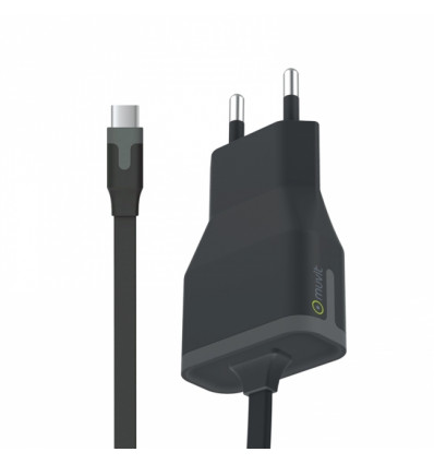 Muvit cable carga pared usb-c 3a 1m negro