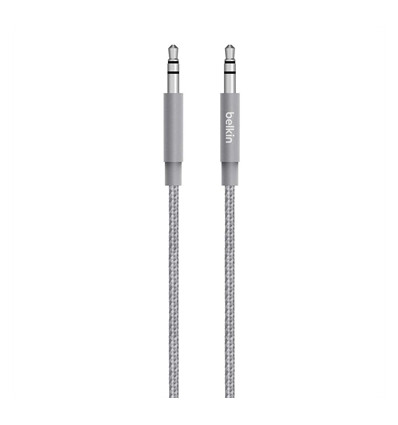 Belkin cable cable conexión jack 3.5mm metallic color gris