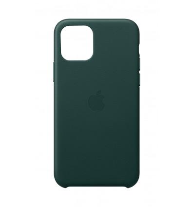 Apple funda de piel color verde para iphone 11 pro