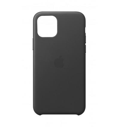 Apple iphone 11 pro leather black funda