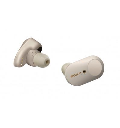 Sony wf-1000x m3 auriculares inalámbricos / bluetooth con cancelación de ruido - plateado