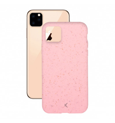 Ksix funda para iphone 11 (rosa) eco-friendly