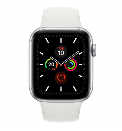 Apple watch 5 gps 44  silver/white