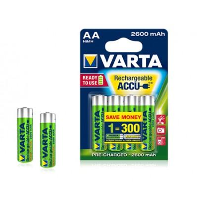 Varta blx4 aa ready to use 2600mah pila alcalina