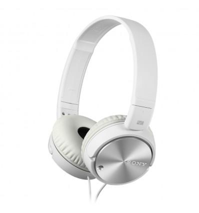 Sony mdr-zx110naw auriculares de diadema / cascos color blanco / plata