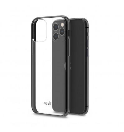 Moshi vitros funda transparente con bordes de color negro para iphone 11 pro