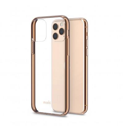 Moshi vitros funda transparente para iphone 11 pro max(bordes en oro)