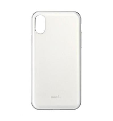 Moshi iphone xs iglaze pearl white funda