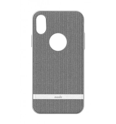 Moshi  iphone xs  vesta herringbone gray funda