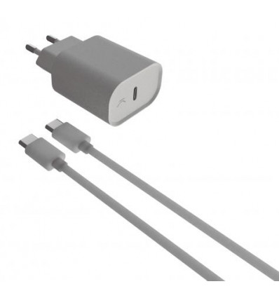 Ksix usb tipo c 18w pd + cable tipo c c   cargador