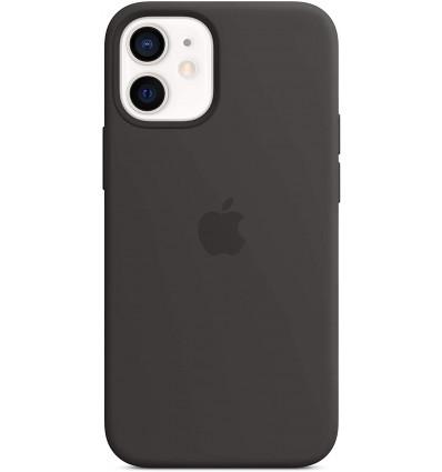 Apple iphone 12 mini silicone magsafe black funda