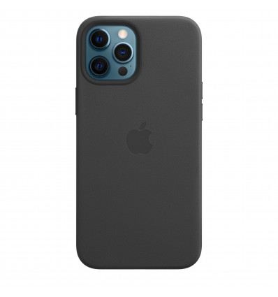 Apple iphone 12 pro max leather magsafe black fund