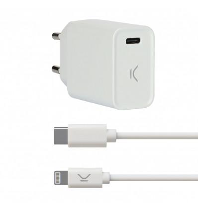 Ksix 20w tipo c pd + lightning    cargador