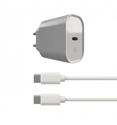 Ksix usb tipo c 20w pd + cable tipo c   cargador