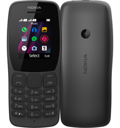 NOKIA 110 DS   BLACK Tel