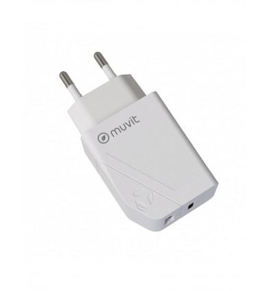 MUVIT USB 18W +1 TIPO C PD 20W    Cargador