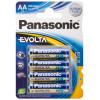 Panasonic blx4 lr6 pila alcalina aa ev 6 unidades