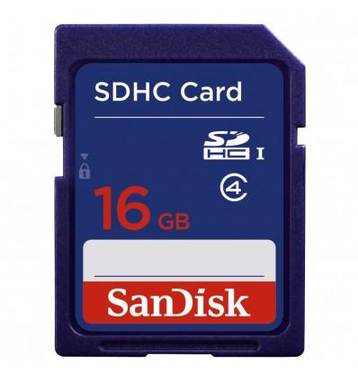 Sandisk sdhc 16gb c4  memoria