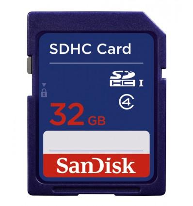 Sandisk 32gb sdhc class4 tarjeta memoria