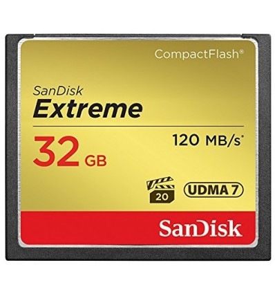 Sandisk 32gb extreme cf 120 mb/s compact flash