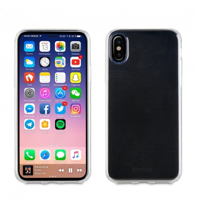 Muvit soft lite funda transparente para iphone x/xs