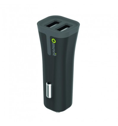 MUVIT CARG CCOCHE USB DUAL BK 3 4A Carga Coche