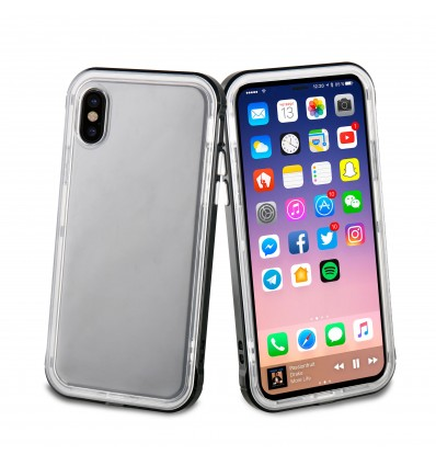 MUVIT IPHONE X CRYSTAL BUMP BL Funda