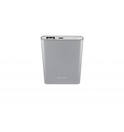 Muvit powerbank batería externa de 5000mah color plateado