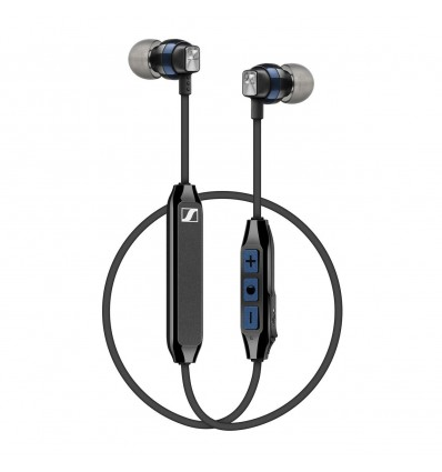 Sennheiser cx 6.00 auriculares inalámbricos / bluetooth in ear silicona color negro / azul