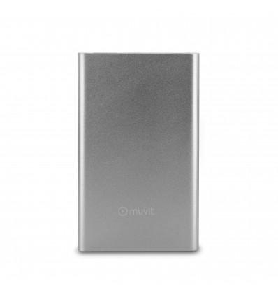 MUVIT 3000MAH CABLE USB   MICROUSB SLV PowerBank
