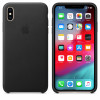 Apple funda de piel negra para iphone xs max