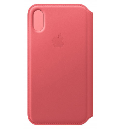 Apple iphone xs le folio peony pink funda