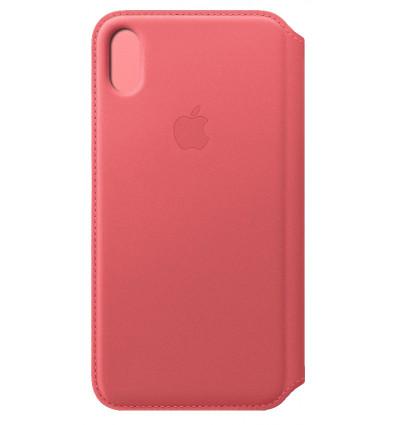 Apple iphone xs max le folio peony pink funda
