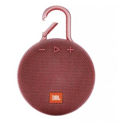 Jbl clip 3 altavoz portátil inalámbrico / bluetooth con clip y resistencia al agua  - color rojo