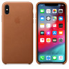 Apple funda de piel marrón para iphone xs max