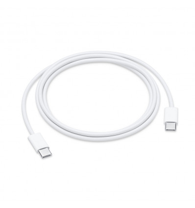 Apple cable conexión usb tipo c a usb-c 1m color blanco
