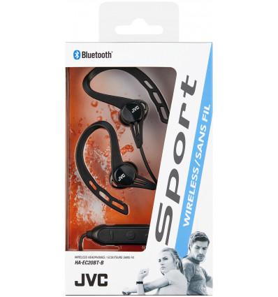 Jvc ha-ec20bt-be auriculares inalámbricos / bluetooth con soporte para hacer deporte negro