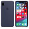 Apple iphone xs max sil case midnight blue funda